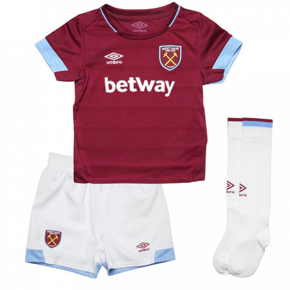 Camiseta West Ham United 1ª Equipación 2018/2019 Niño Kit